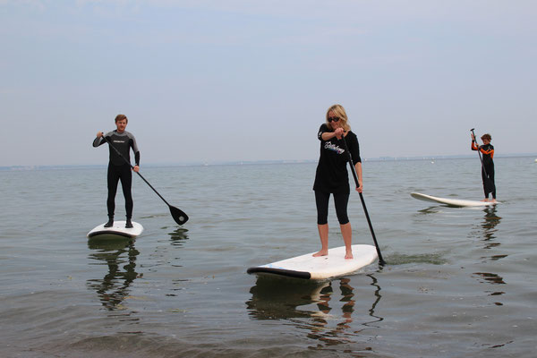 Bild: Stand up paddling Timmendorfer Strand