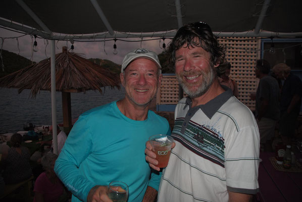 Wolfgang und Peter, neuseeländischer Einhandsegler von der  SY Onapua