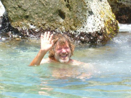 auch in einer Pfütze kann man baden
