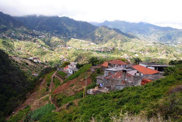 Blick ins Landesinnere von Madeira