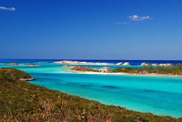 Staniel Cay, Sicht Richtung Norden