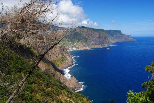 Madeira, Blick auf Porto da Cruz