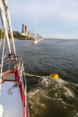 Strömung im Hudson River