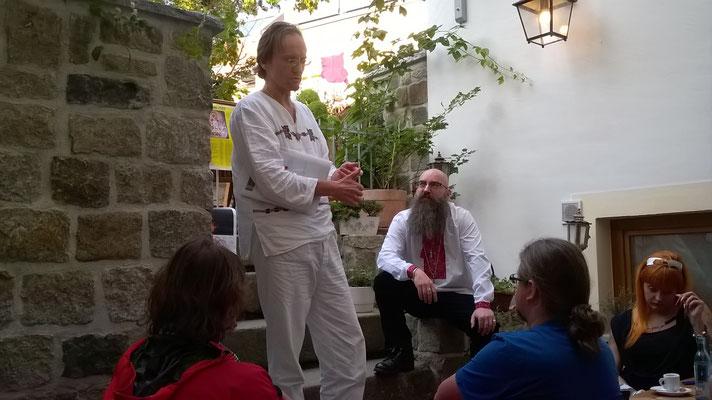 Gespräche mit dem sehr interessierten Publikum