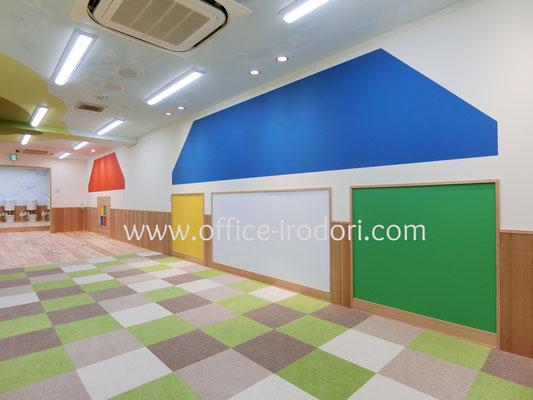 大阪市「ハピオスインターナショナルスクール」/カラーデザイン、カラーコーディネート 設計チアフル・ハーベスト 2018年4月完成