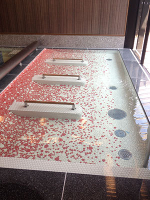 滋賀県近江八幡市「長命ずいかくの湯」/浴室タイルカラーデザイン