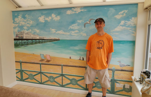 me in front of the mural