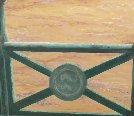 Detail of the seafront railings