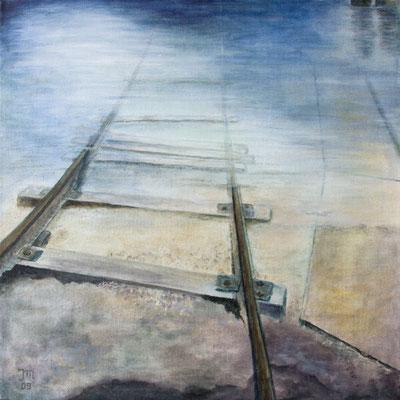 Abendstimmung, Acryl auf Leinwand, 50x50x4 cm
