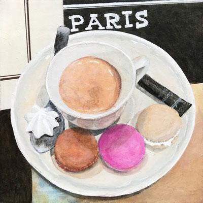 Macarons, Acryl auf Mdf, 15x15x0,3 cm