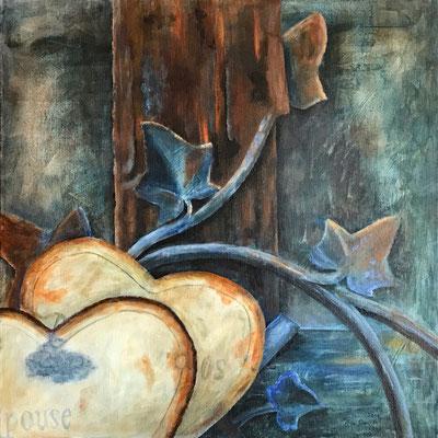 Epouse, Acryl auf Leinwand, 50x50x4 cm