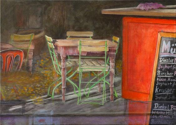 Durchblick, Acryl auf Leinwand, 50x70x2 cm