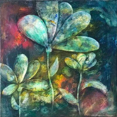 Blumen 1, Acryl auf Leinwand, 50x50x1,5 cm