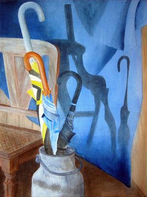 Flurschatten, Acryl auf Leinwand, 80x60x2 cm