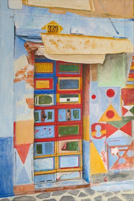 Spurensuche-339, Acryl auf Leinwand, 90x60x2 cm