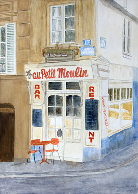 Paris, Acryl auf Leinwand, 70x50x2 cm