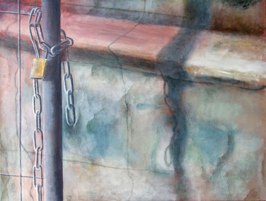 Chain, Acryl auf Leinwand, 60x80x2 cm
