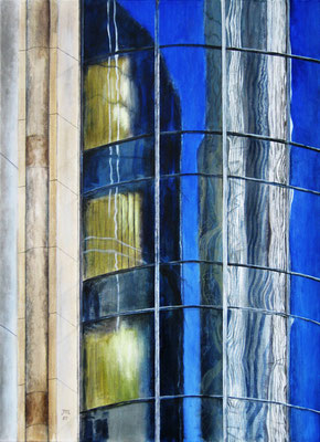Spiegelung, Acryl auf Leinwand, 70x51x2 cm