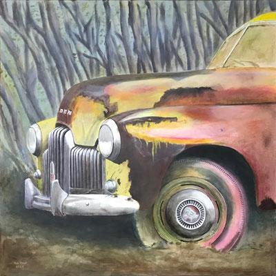 Holden 1950, Acryl auf Leinwand, 100x100 cm