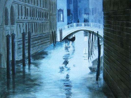 Venedig, Acryl auf Leinwand, 60x80x2 cm