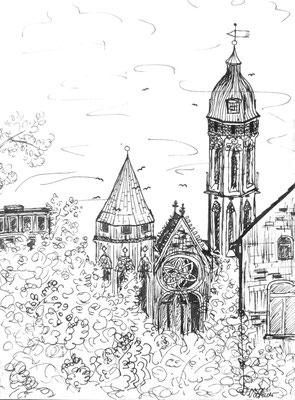 St. Andreas Braunschweig, Tusche auf Papier