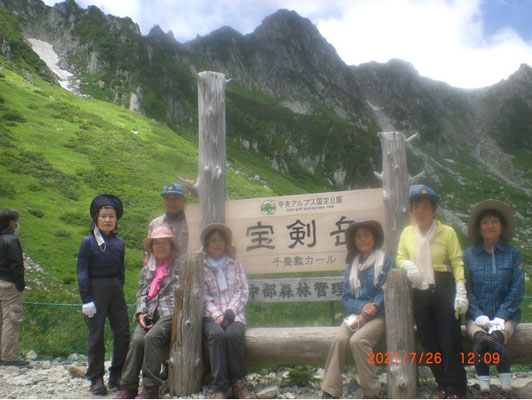 登山開始まえのメンバー