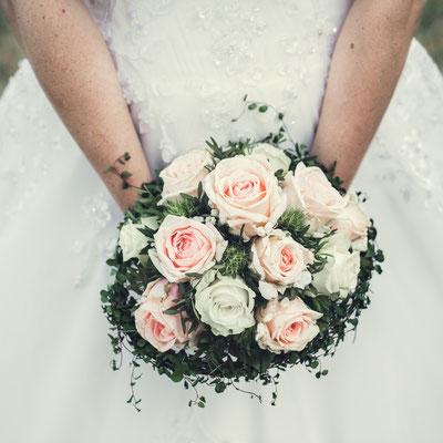 Hochzeitsfoto / Brautstrauß
