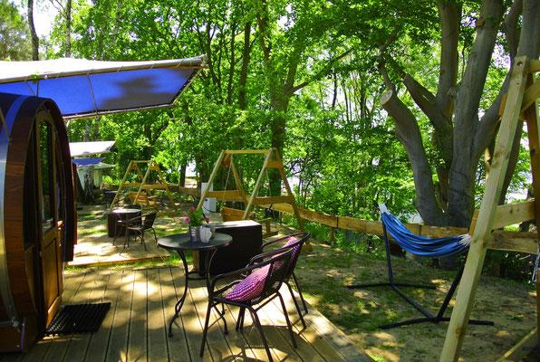 Die neuen #seefässer am Plauer See © schlaffass-am-see.de