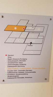 Der Plan des Museums
