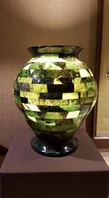 Eine wunderschöne Edelserpentin Vase