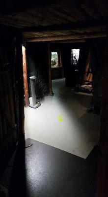 Die erste Tür zum Museum und Schaustollen ist geöffnet