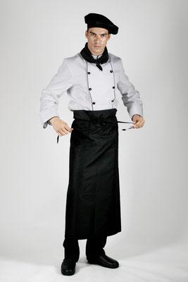 Ropa Básica 03: Gorro, pañuelo, chaquetilla, delantal, pantalón y calzado