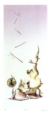Litografia tirata a mano, in pochissime copie a 6 colori. Omaggio alla vecchia LIRA.