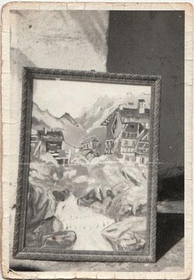 I primi quadri, riproduzione di cartoline 1965