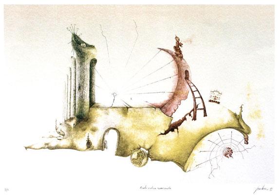 Litografia tirata a mano, in pochissime copie a 6 colori.