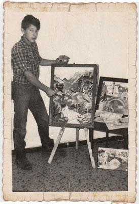 I primi quadri, riproduzione di cartoline 1966