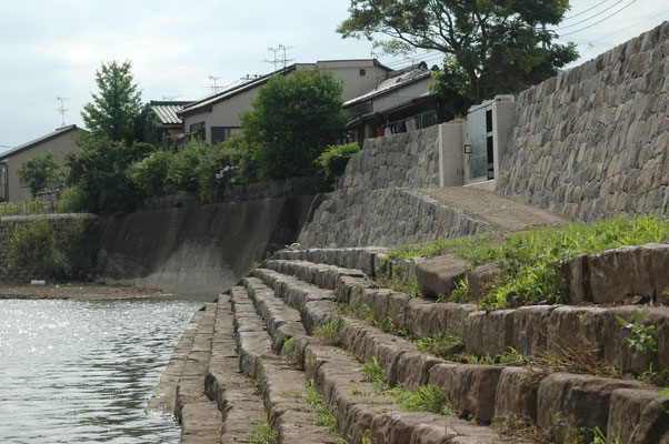 遺構復築(川尻の船着き場)