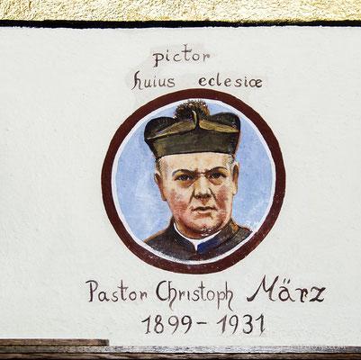 Selbstbildnis des Malerpastors. Sein Patenkind Christoph May stand dabei als Modell zur Verfügung.