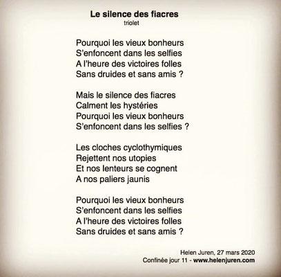 """""""Le silence des fiacres"""" auteure Helen Juren"""