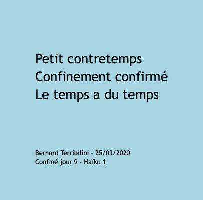 Haïku auteur Bernard Terribilini