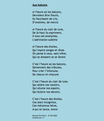 """""""Aux balcons"""" auteur Bernard Terribilini"""