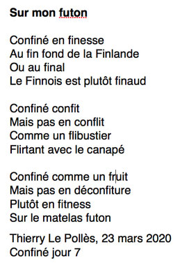 """""""sur mon futon"""" auteur : Thierry Le Pollès"""