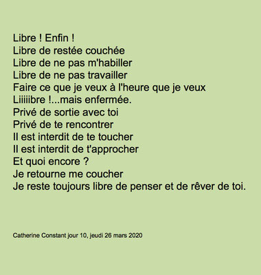 """""""Libre """"auteure Catherine Constant"""