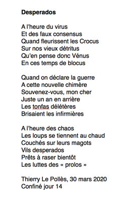"""Desperados"" auteur Thierry Le Polles"