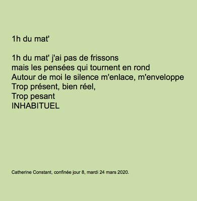 """""""1h du mat'"""" auteure Catherine Constant"""