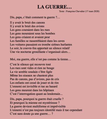 """""""La Guerre"""" auteure Françoise Chevalier"""