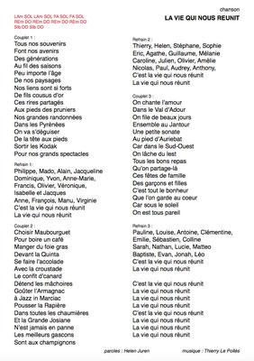 Texte : Helen Juren - Musique : Thierry Le Pollès