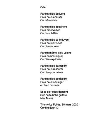 """""""Ode"""" auteur Thierry Le Polles"""