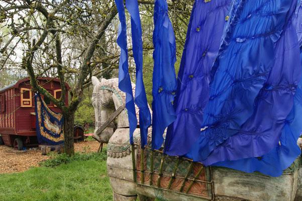 «Winged horse», kinetic installation ,4х2.5х3 m, France, the art laboratory by Vyacheslav Polunin, Le Moulin Jaune , 2016