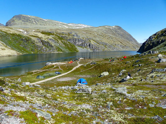 Norwegen - Rondane Nationalpark - Campingplatz bei der Hütte Rondvassbu